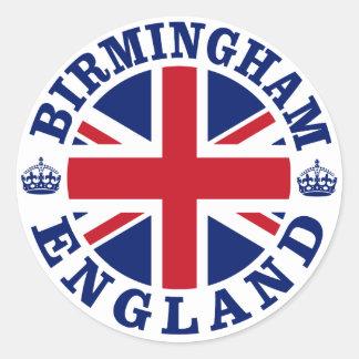 Diseño BRITÁNICO del vintage de Birmingham Pegatina Redonda