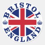 Diseño BRITÁNICO del vintage de Bristol Etiqueta