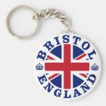 Diseño BRITÁNICO del vintage de Bristol Llaveros Personalizados
