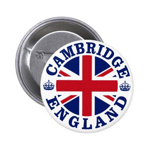 Diseño BRITÁNICO del vintage de Cambridge Pin Redondo 5 Cm