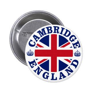 Diseño BRITÁNICO del vintage de Cambridge Pin Redondo De 2 Pulgadas