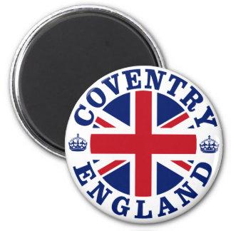 Diseño BRITÁNICO del vintage de Coventry Imán Redondo 5 Cm