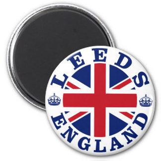 Diseño BRITÁNICO del vintage de Leeds Imán Redondo 5 Cm