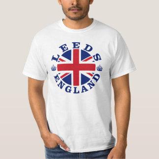 Diseño BRITÁNICO del vintage de Leeds Playera