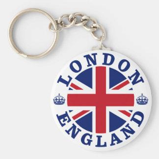 Diseño BRITÁNICO del vintage de Londres Llavero Redondo Tipo Pin