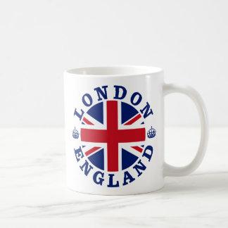 Diseño BRITÁNICO del vintage de Londres Taza Clásica