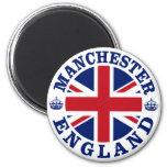Diseño BRITÁNICO del vintage de Manchester Imanes Para Frigoríficos