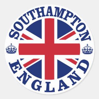 Diseño BRITÁNICO del vintage de Southampton Pegatina Redonda