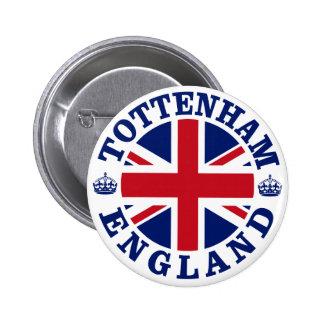 Diseño BRITÁNICO del vintage de Tottenham Pin Redondo De 2 Pulgadas