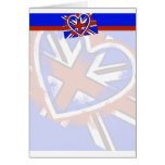 Diseño británico fresco del corazón de la bandera tarjeta de felicitación