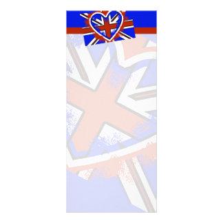 Diseño británico fresco del corazón de la bandera tarjetas publicitarias