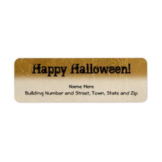 Diseño Brown de Halloween y negro Etiqueta De Remite