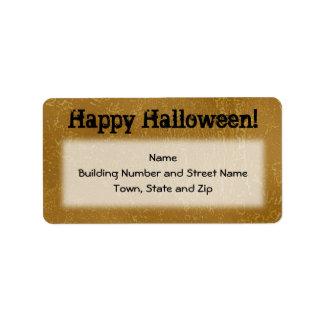 Diseño Brown de Halloween y negro Etiquetas De Dirección