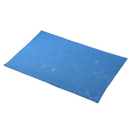 Diseño brumoso azul del extracto de la rejilla manteles