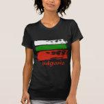 Diseño búlgaro de la bandera del grunge camisetas