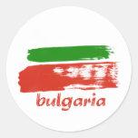 Diseño búlgaro de la bandera del grunge pegatinas redondas