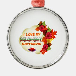 Diseño búlgaro del novio adorno redondo plateado