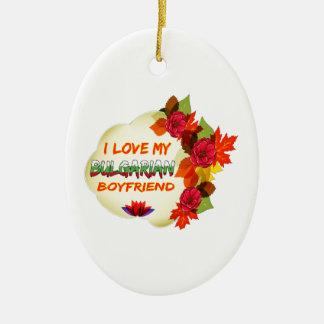 Diseño búlgaro del novio adorno ovalado de cerámica
