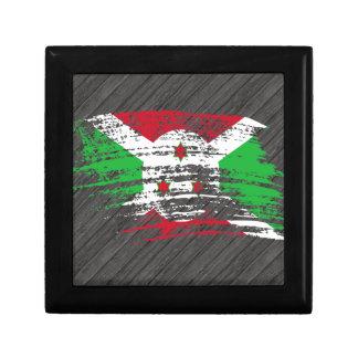 Diseño burundés fresco de la bandera cajas de recuerdo