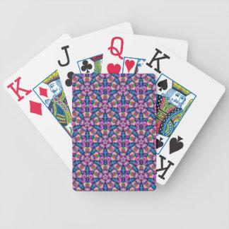 Diseño caleidoscópico artsy colorido elegante baraja cartas de poker