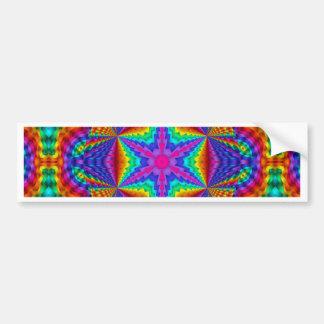Diseño caleidoscópico coloreado brillante de la ci etiqueta de parachoque