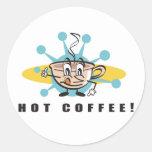 diseño caliente retro del café etiqueta