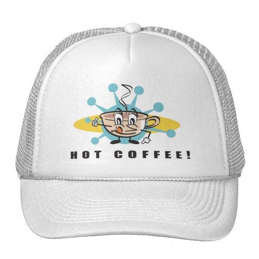 diseño caliente retro del café gorro de camionero
