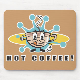 diseño caliente retro del café tapete de ratones