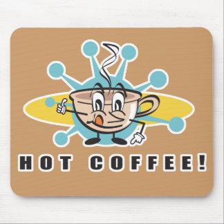 diseño caliente retro del café alfombrilla de ratón