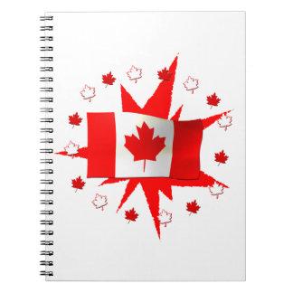 Diseño canadiense de la bandera libretas