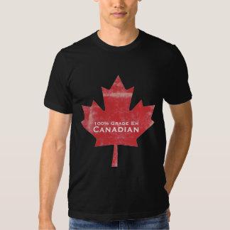 Diseño canadiense de la hoja de arce de la carne remera
