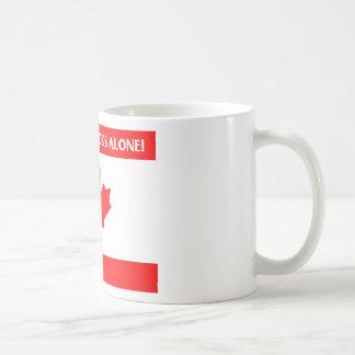 Diseño canadiense de la hoja taza básica blanca