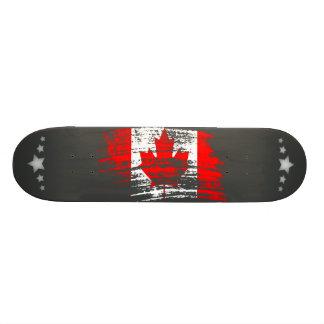 Diseño canadiense fresco de la bandera tabla de skate