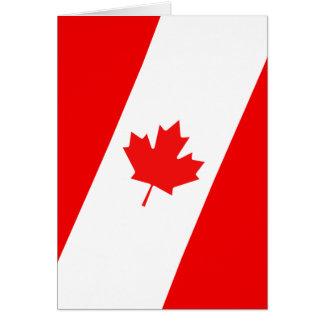 Diseño canadiense tarjeta de felicitación