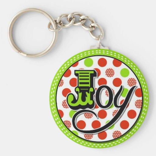 diseño caprichoso de la alegría del navidad llavero redondo tipo pin