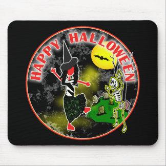 Diseño caprichoso del feliz Halloween Tapete De Ratones