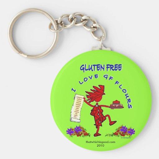 Diseño caprichoso Gluten-Libre Llavero Personalizado