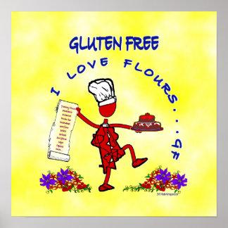 Diseño caprichoso Gluten-Libre Poster