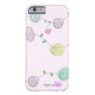 Diseño caprichoso romántico iPhone6 de Digitaces Funda Barely There iPhone 6
