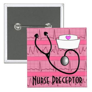 Diseño cardiaco del ritmo de los botones del Prece Pin Cuadrado