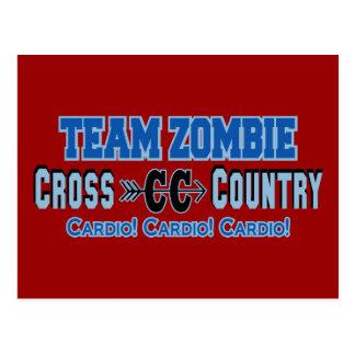Diseño cardiio del campo a través del zombi del tarjeta postal