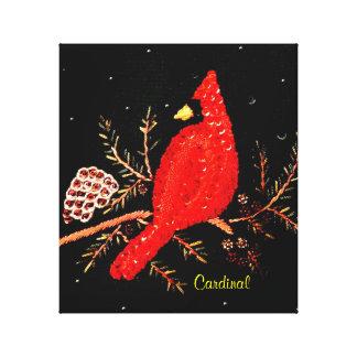 Diseño cardinal del bordado de las lentejuelas del lona envuelta para galerías