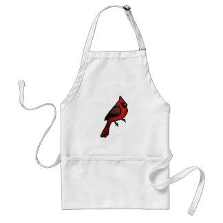 Diseño cardinal del dibujo animado delantal