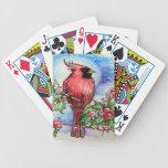 Diseño cardinal del navidad baraja cartas de poker