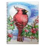 Diseño cardinal del navidad libro de apuntes