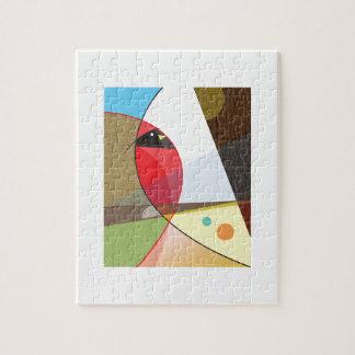 Diseño cardinal del pájaro puzzle con fotos