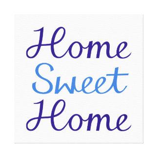 Diseño casero dulce casero de la escritura azul y  lona envuelta para galerias
