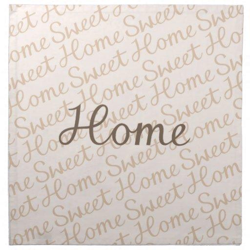 Diseño casero dulce casero de la escritura en marr servilleta de papel