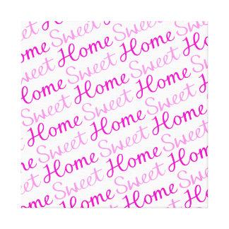 Diseño casero dulce casero de la escritura en rosa impresión en tela
