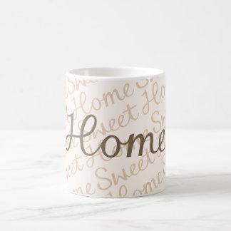 Diseño casero dulce casero de la escritura en taza